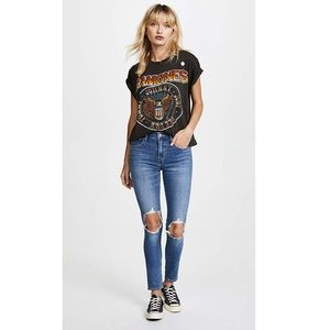 Levi's - 721 high waisted distressed skinny jeans